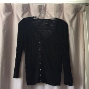 Cute black cardigan with buttons